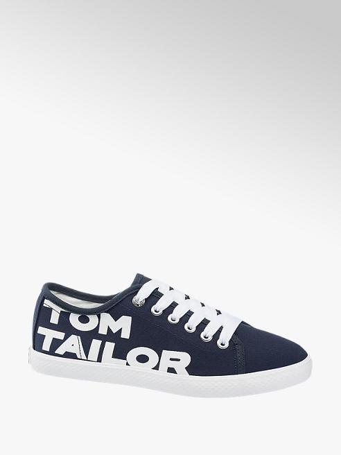 Tom Tailor Modré plátenné tenisky Tom Tailor