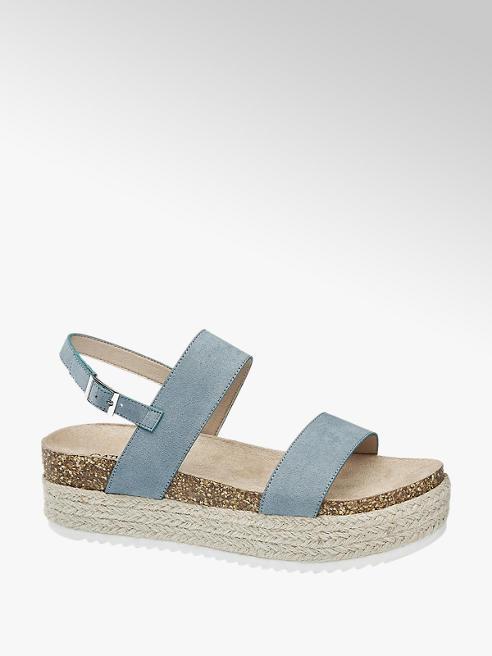 Catwalk Modré sandále na platforme Catwalk
