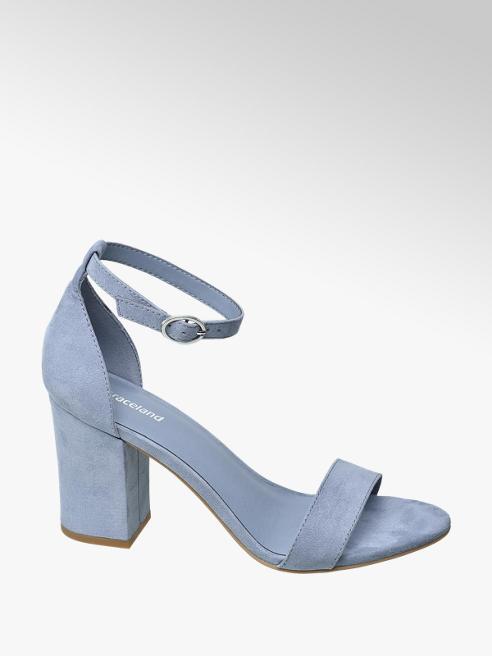 Graceland Modré sandály na podpatku Graceland