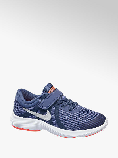 NIKE Modré tenisky na suchý zip Nike Revolution 4 (Ps)