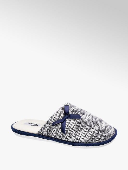 Casa mia Modro-bílé papuče Casa mia