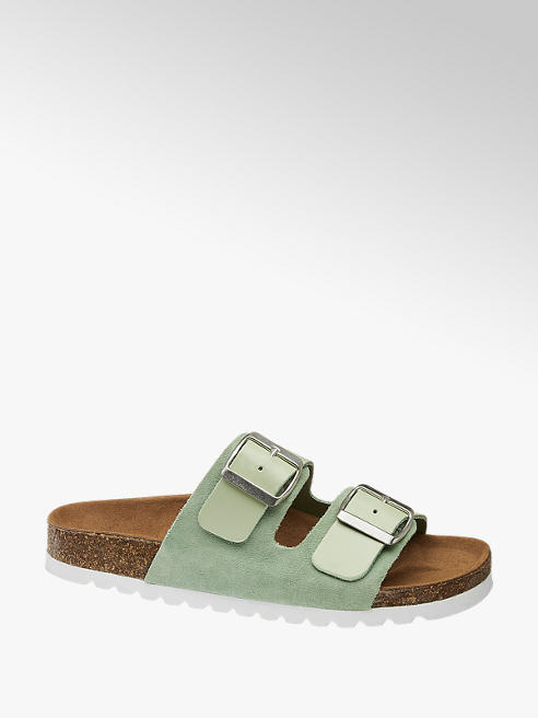 Vero Moda Mátové kožené pantofle Vero Moda