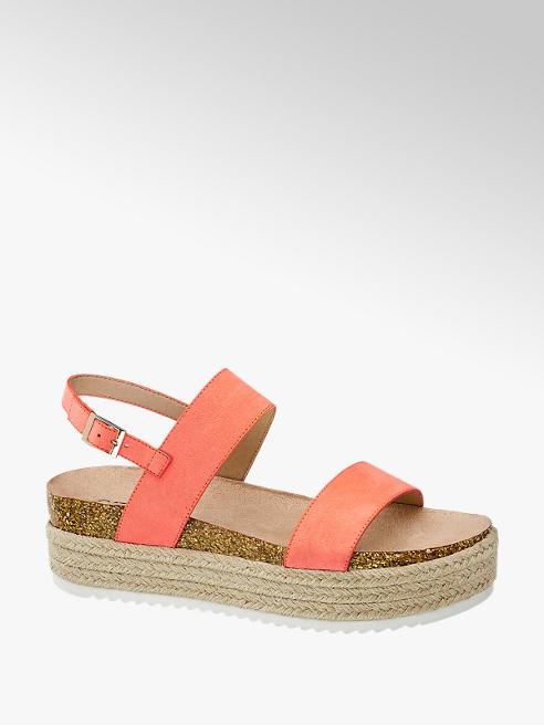 Catwalk Neónovoružové sandále na platforme Catwalk