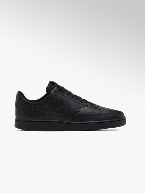 NIKE Mens Nike Court Vision Low Black Lace-up Trainers