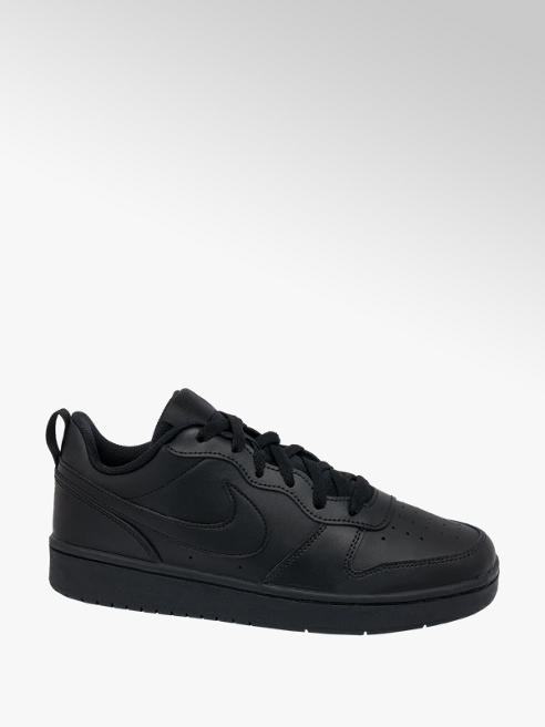 NIKE Teen Nike Court Borough Low Black Lace-up Trainers