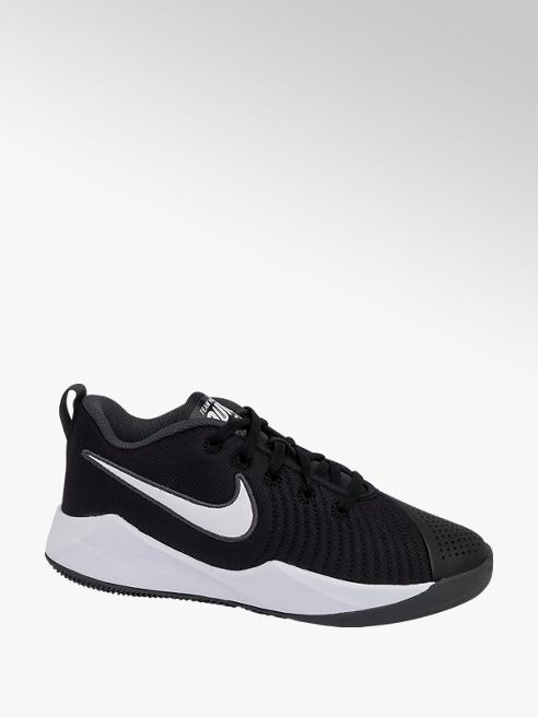 NIKE Teen Nike Team Hustle Black and White Lace-up