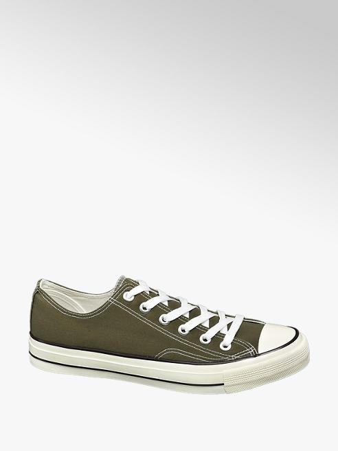 Vty Olivazöld vászon sneaker