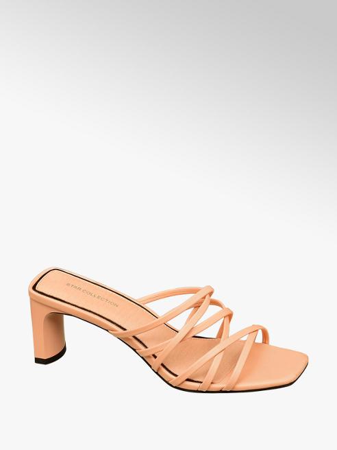 Star Collection Oranžové šľapky Rita Ora