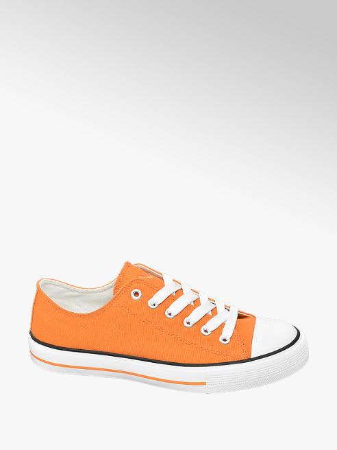 Vty Oranžové plátěné tenisky Vty
