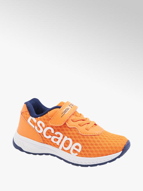 Bobbi-Shoes Oranžové tenisky na suchý zips Bobbi Shoes