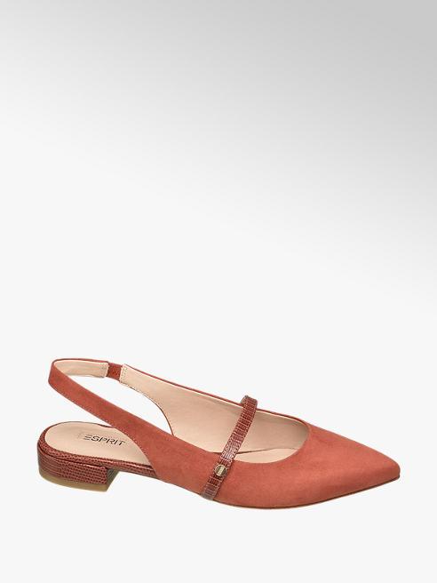 Esprit Oranžovo-hnědé slingback baleríny Esprit