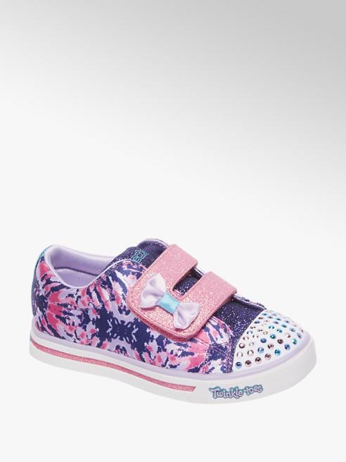 Skechers Paarse sneaker glitter & led