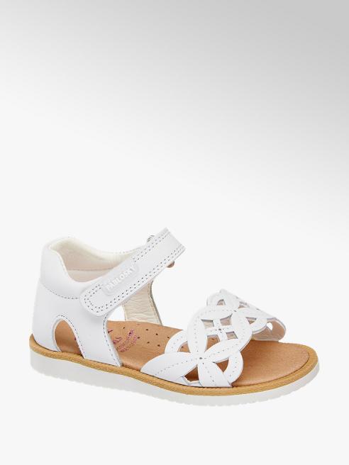 Pablosky Leder Sandalen in Weiß mit Lyralochung