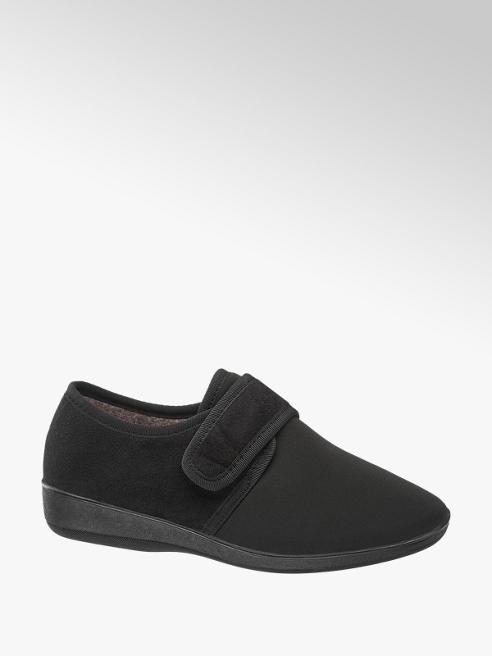Casa mia Pantofola nera con velcro