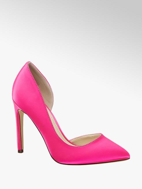 Blink Pink szatén körömcipő