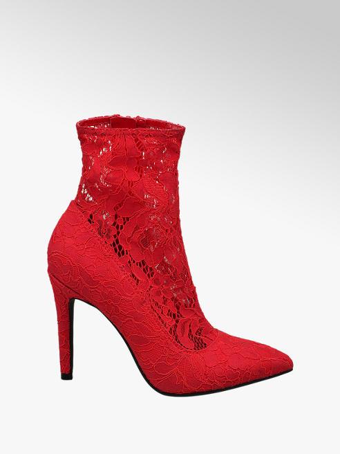 Catwalk Piros csipkés sock boot