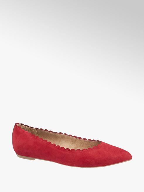5th Avenue Piros hegyes orrú balerina