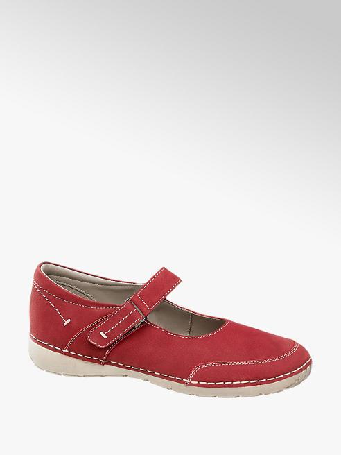Easy Street Piros kényelmi félcipő