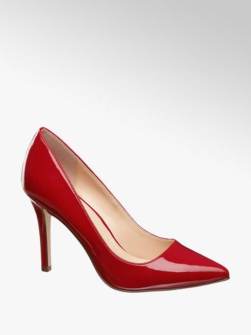 Graceland Piros lakk körömcipő