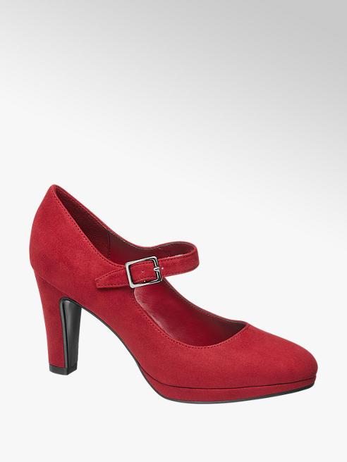 Graceland Piros pántos körömcipő