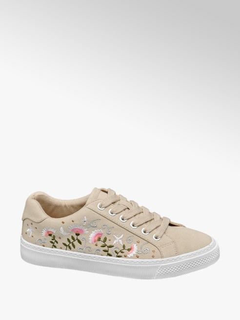Graceland Plátenky s kvetinovou výšivkou