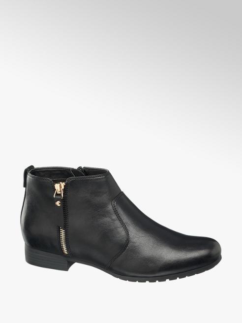 Graceland Polacchino nero con zip laterale