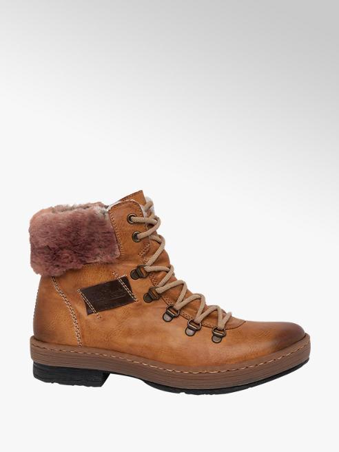 Rieker Tan Rieker Lace-up Hiker Boots