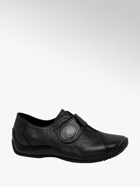 Rieker Black Rieker Leather Comfort Shoes