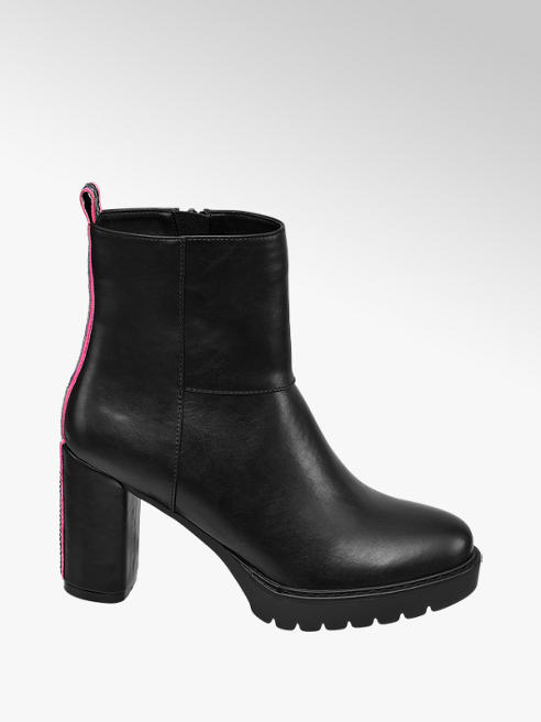 Star Collection Rita Ora Star Collection Black Heeled Ankle Boots