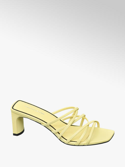Star Collection Rita Ora Star Collection Ladies Heeled Mule Sandals Yellow