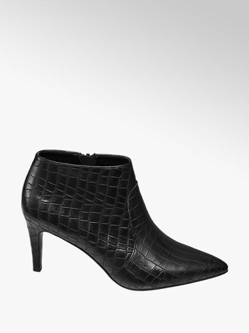 Star Collection Star Collection Black Croc High Front Heels