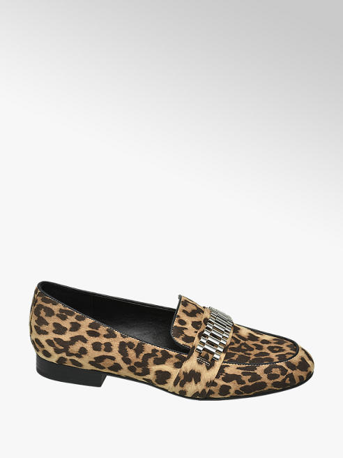 Star Collection Rita Ora Star Collection Leopard Print Loafers