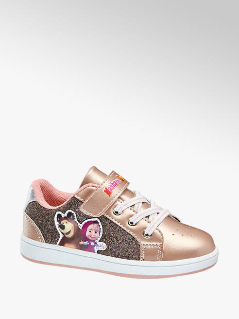Masha and the bear Rose gold lány sneaker