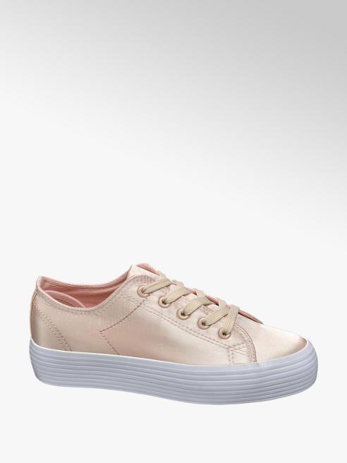 Vty Rose gold szatén platform sneaker