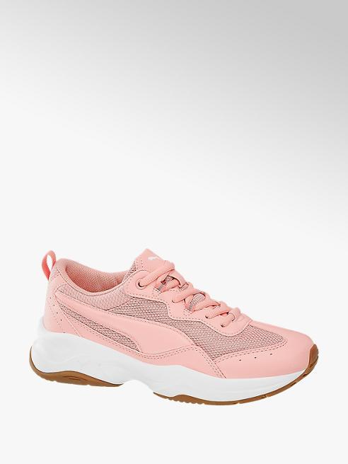 Puma Růžové kožené chunky tenisky Puma Cilia