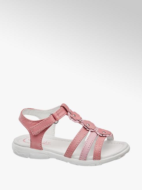 Cupcake Couture Růžové kožené sandály Cupcake Couture