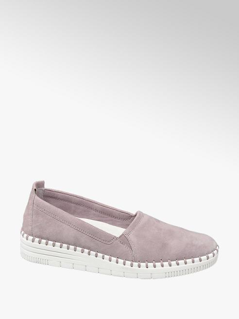 5th Avenue Růžová kožená slip-on obuv 5th Avenue