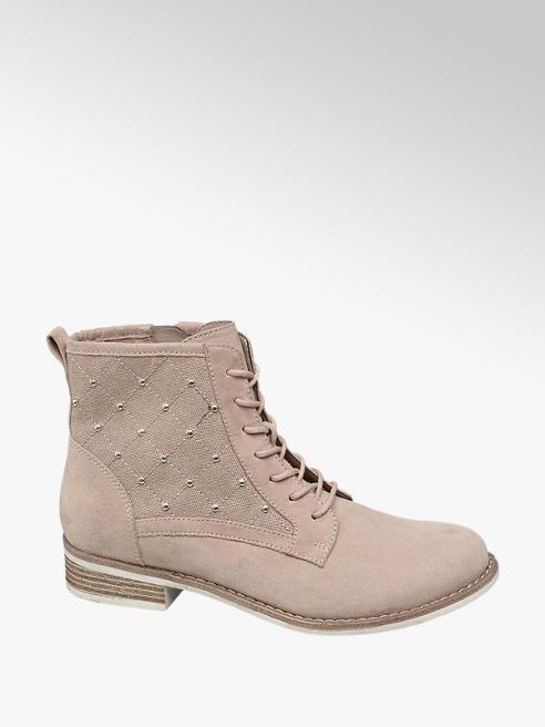 Graceland Růžová šněrovací obuv Graceland se zipem