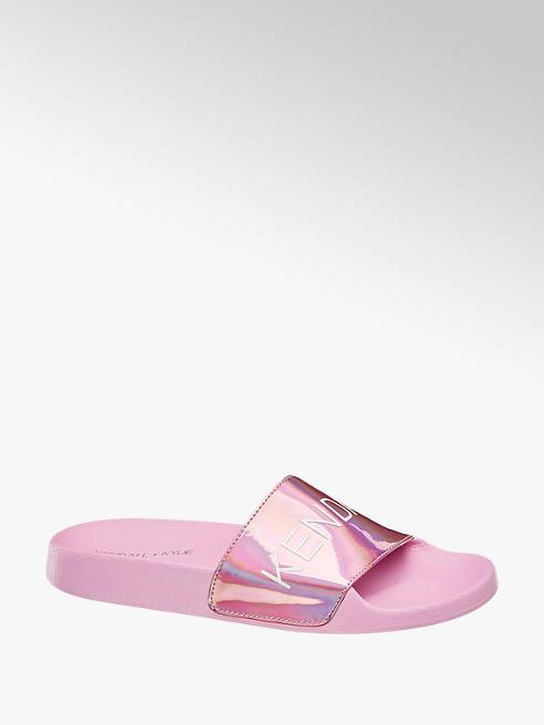 Kendall + Kylie Růžové pantofle Kendall + Kylie