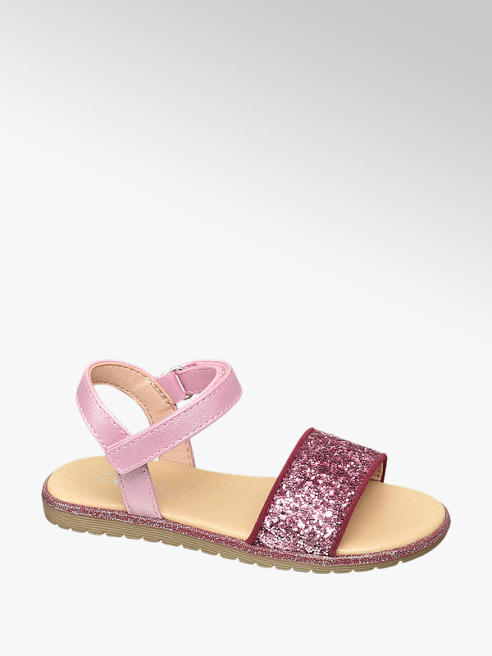 Cupcake Couture Růžové sandály Cupcake Couture na suchý zip