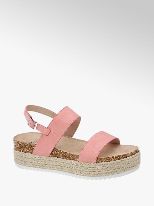 Catwalk Růžové sandály na platformě Catwalk