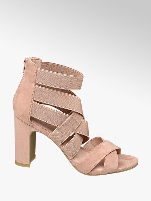 Graceland Růžové sandály na podpatku Graceland
