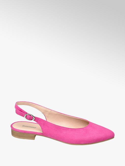 Graceland Růžové slingback baleríny Graceland