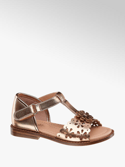 Cupcake Couture Růžovo-zlaté sandály Cupcake Couture