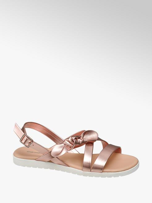 Graceland Růžovozlaté sandály Graceland