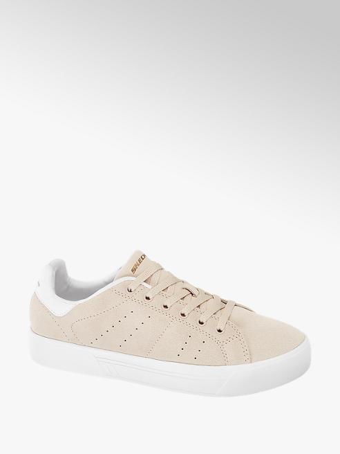Skechers Roze Suede Lace Up Sneaker