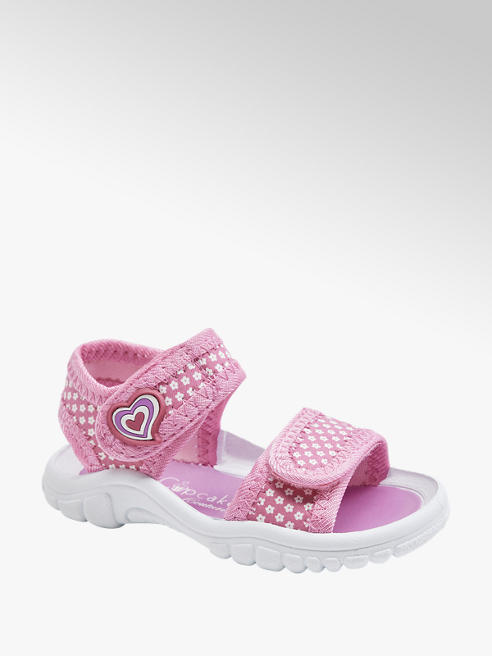 Cupcake Couture Ružové detské sandále na suchý zips Cupcake Couture