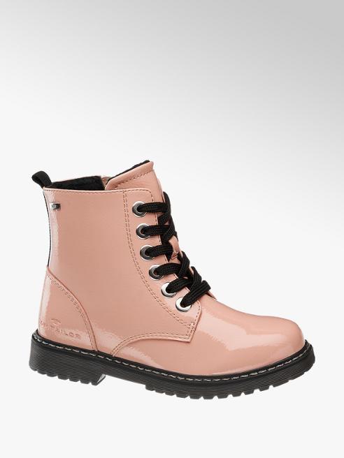 Tom Tailor Ružová dievčenská členková obuv so zipsom a TEX membránou Tom Tailor