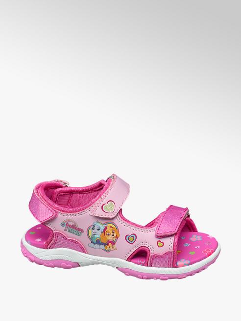 Paw Patrol Ružové dievčenské sandále na suchý zips Labková patrola