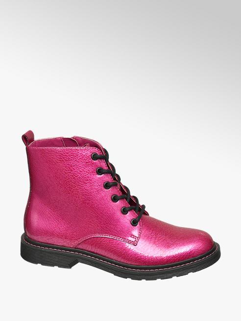 Catwalk Ružová šnurovacia obuv so zipsom Catwalk